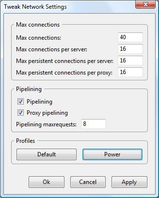 Firefox extensions - Tweak Network Settings